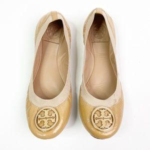 Tory Burch Caroline Flats Gold Emblem